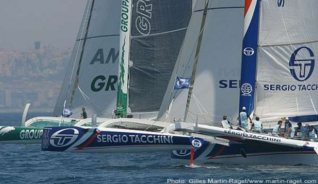 Groupama leads Sergio Tacchini in the coastal race