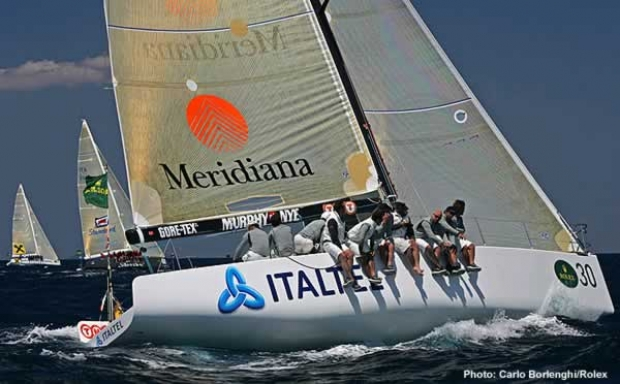 Antonio Orlandi's new Grand Soleil 42R Meridiana-Italtel has Vasco Vascotto helming