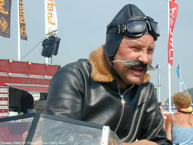 Check this pilot guy out, send your funny pictures of your Cowes Week to photos@thedailysail.com