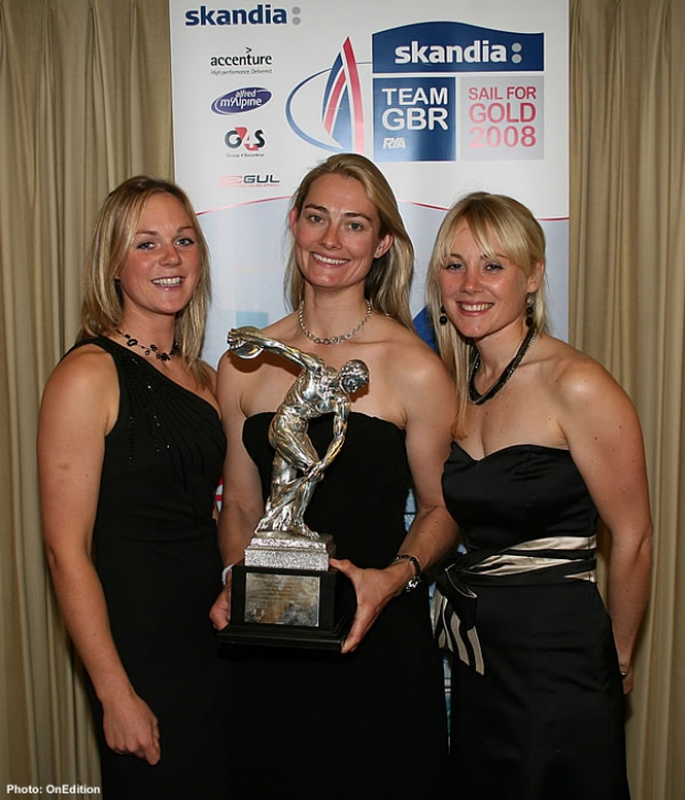 From left: Wilson, Webb and Ayton, BOA Sailing Athletes of the Year