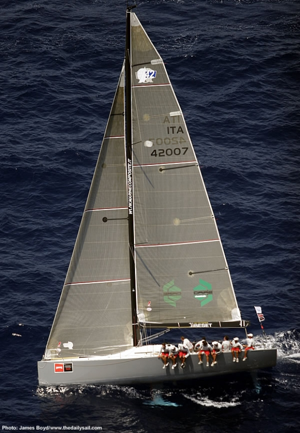 Vittorio Urbinatti's GP 42 Sea Wonder with Millenium sails