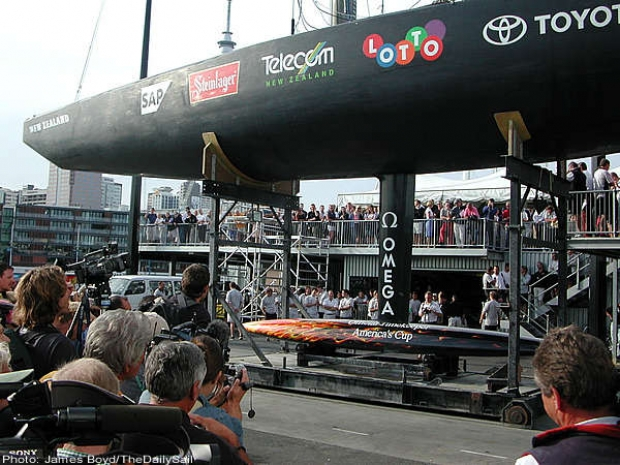 Half of New Zealand and all of the world's sailing press descend on the Team New Zealand base to see the Kiwi defender unveiled for the second time