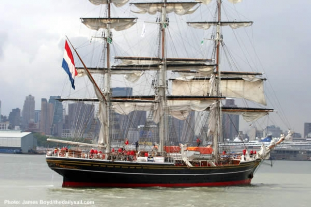 THe newly built square rigger Stad Amsterdam has been chartered to the Storm Trisail Club