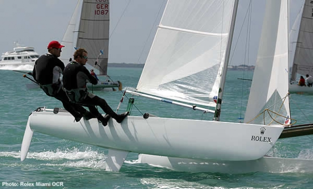 Charlie Ogletree and John Lovell at Rolex Miami Olympic Classes Regatta