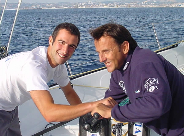 Alain Gautier (right) with Armel Le Cleac'h