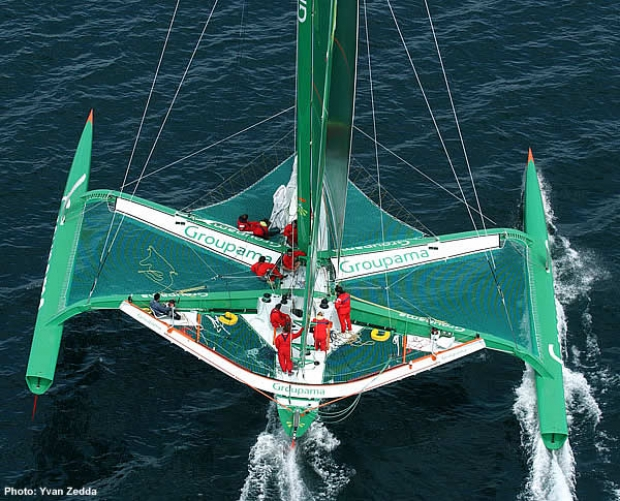 The boat to beat...Franck Cammas' Groupama 2