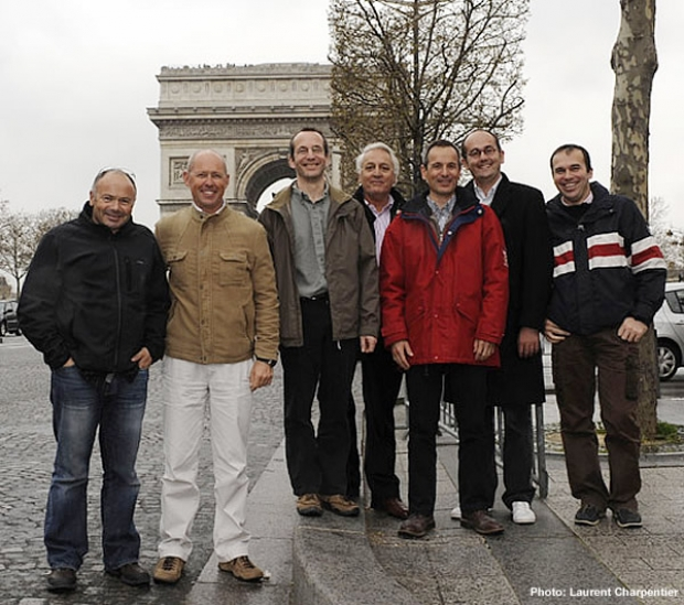from left to right : Bertrand Pacé – Bruno Dubois – Bertrand Alessandrini – Philippe Gouard – Franck De Rivoyre – Yann Roux – Nicolas Fauroux