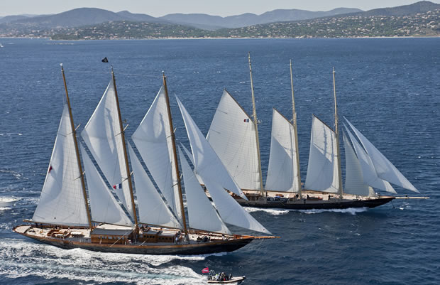 The grande finale of the yachting season - certainly for the classic yachts ...