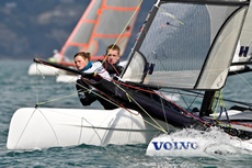 Adam Butler and Nikki Boniface - RYA Volvo Youth National Championships Photo Paul Wyeth/RYA
