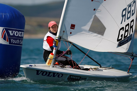 Sophie McKeeman - RYA Volvo Youth National Championships. Photo Paul Wyeth/RYA