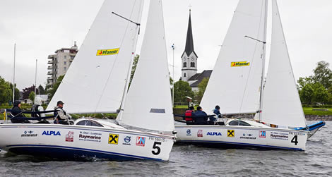 EuroSAF Match Racing Europeans. Photo Daniel Forster/www.yachtphotos.com