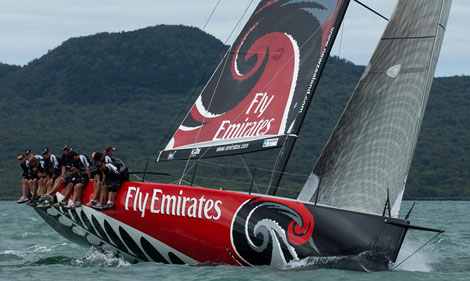 Emirates Team NZ's reworked TP52. Photo © Chris Cameron