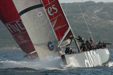 Louis Vuitton Trophy La Maddalena. Photo Chris Cameron/Emirates Team New Zealand