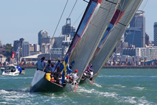 TeamOrigin v Artemis, Louis Vuitton Trophy Auckland.  Photo © Ian Roman/TeamOrigin