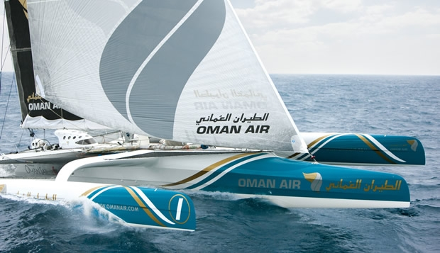 oman air round britain record attempt