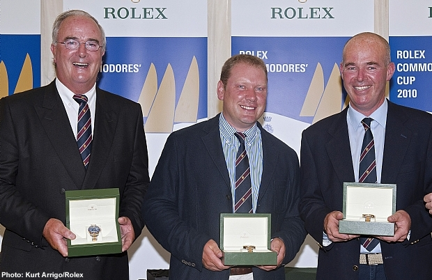Anthony O'Leary (left) at the Rolex Commodores' Cup prizegiving