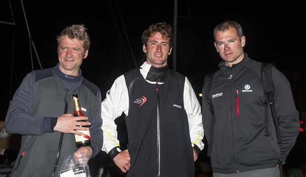 Morgan Lagraviere (centre) with Thierry Chabagny (right) and Yann Elies