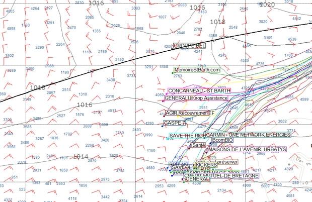 Transat AG2R La Mondiale positions at 0748