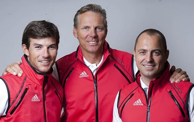 Right to left: Stephane Kandler, Jochen Schuemann and Sebastien Col