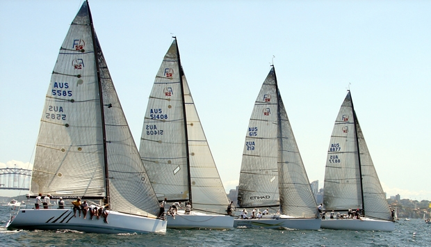 Farr 40 racing on Sydney Harbour