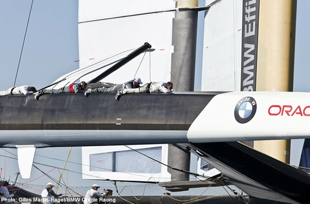 BMW Oracle Racing's revolutionary solid wing sail