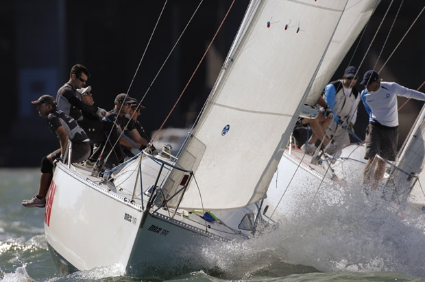 Barker v Ainslie in a previous encounter on the Waitemata Harbour