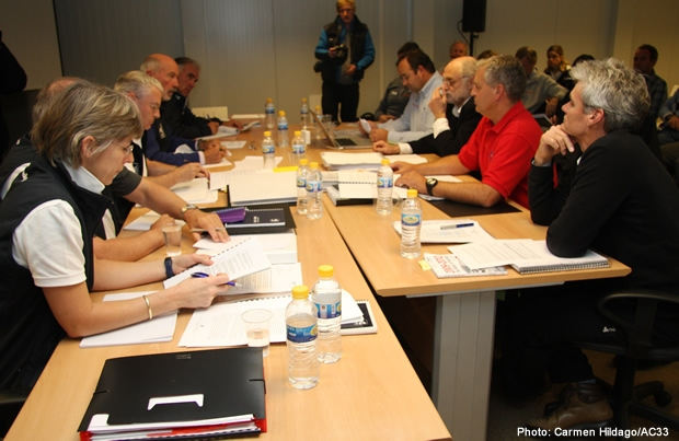 The AC33 jury in session