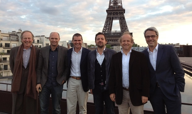 L to R: Patrice Clerc, President of the Board; Mark Turner, Executive Chairman; Rémi Duchemin, CEO; Sam Primaut, Director of Consulting; Benoît Coville, Board Director; Stéphane Delplancq, Board Director.