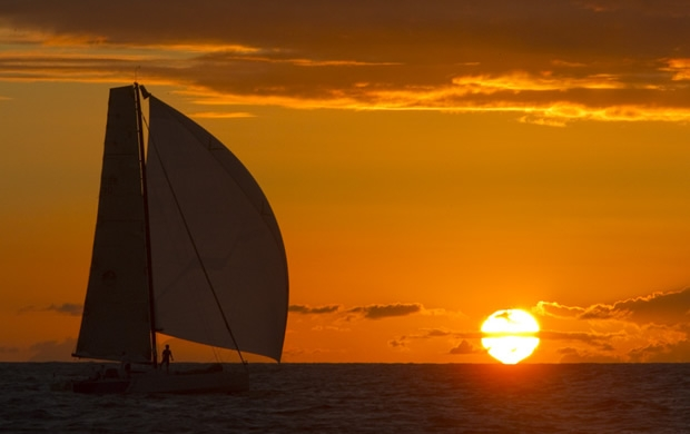 Dusk settles on the RORC Caribbean 600