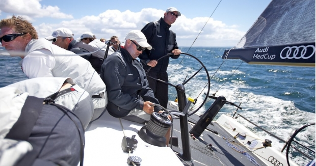 Tim Powell at the helm of Cristabella