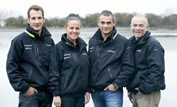 From left to right: Leo Lucet, Dona Bertarelli, Yann Guichard, Stephane Guilbaud