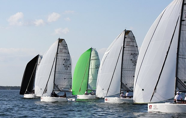 Racing at the Audi Melges 20 Miami Winter Series