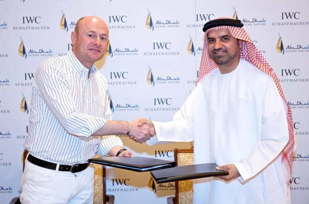 IWC Schaffhausen CEO Georges Kern and Abdul Aziz Al Hamadi from the Abu Dhabi Tourism Authority