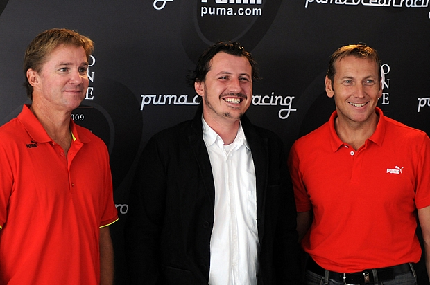 (L-R) Ken Read, Antonio Bertone and Jochen Zeitz, Chairman and CEO of PUMA.