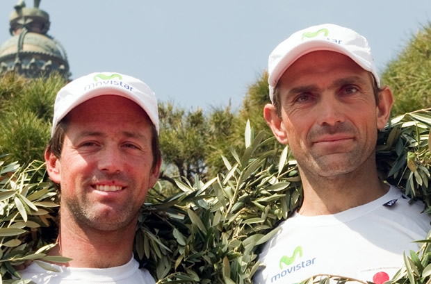 Iker Martinez (left) with Xabi Fernandez