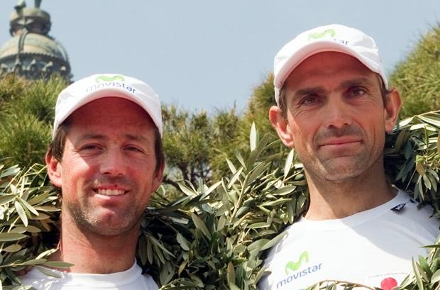 Iker Martinez (left) with Xabi Fernandez