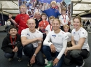 Skandia Team GBR's Nick Thompson, Bryony Shaw and Penny Clark are joined by Tokyo Olympic silver medallist Keith Musto and potential future sailing champions at the launch of the new Skandia Team GBR 'Support Crew' at the RYA Volvo Dinghy Show 2010