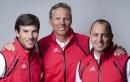 Right to left: Stephane Kandler, Jochen Schuemann and Sebastien Col