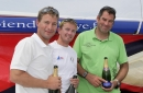 Podium finishers - left to right: Jean Pierre Nichol, Fabien Delahaye, Gildas Morvan
