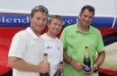 Podium finishers - left to right: Jean Pierre Nichol, Fabien Delahaye, Gildas Morvan