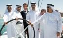 (l-r) Ahmed Al Romaithi, Director General, Abu Dhabi Marine Sports Club, H.E. Mubarak Hamad Al Muhairi, Director General ADTA, Knut Frostad, CEO Volvo Ocean Race, Mohammed Al Mahmoud, General Secretary Abu Dhabi Sports Council, Salam Al Romaithi, Deputy D