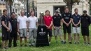 From left to right: Tom Slingsby, Mitch Booth, Francesco Bruni, Chris Draper, Charlie Ekberg, Roman Hagara, Dean Barker, Ben Ainslie and Yann Guichard