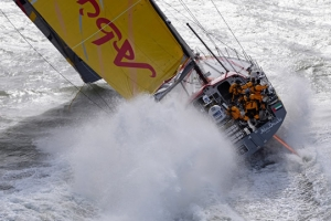 Abu Dhabi Ocean Racing lays down marker in the Sevenstar Round Britain and Ireland Race
