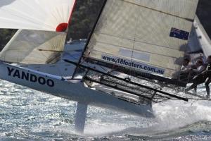 Australian 18ft skiffs Major A Frizelle Trophy 2014 report