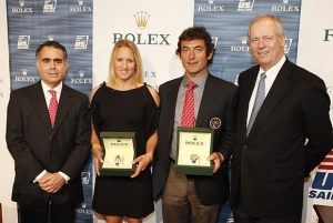 From left to right: Rolex Watch U.S.A.'s President and CEO Allen Brill, Anna Tunnicliffe, Bora Gulari and Gary Jobson